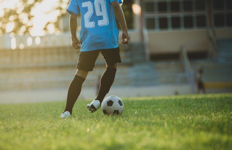 Gra w piłkę nożną – bramki aluminiowe